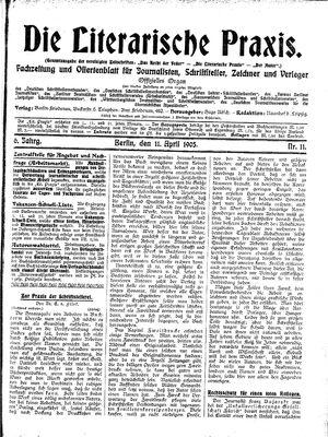 ˜Dieœ literarische Praxis vom 11.04.1905