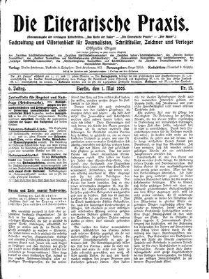 ˜Dieœ literarische Praxis vom 01.05.1905