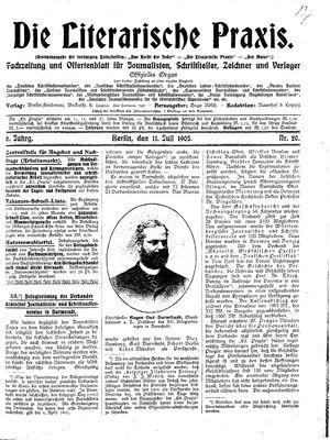 ˜Dieœ literarische Praxis vom 11.07.1905