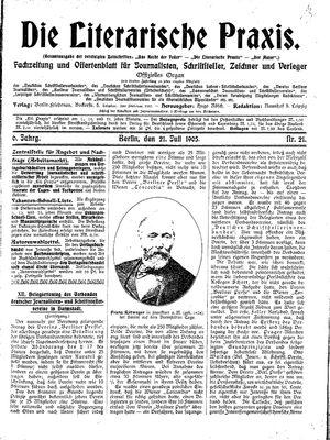 ˜Dieœ literarische Praxis vom 21.07.1905