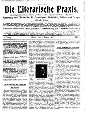 ˜Dieœ literarische Praxis vom 01.01.1906