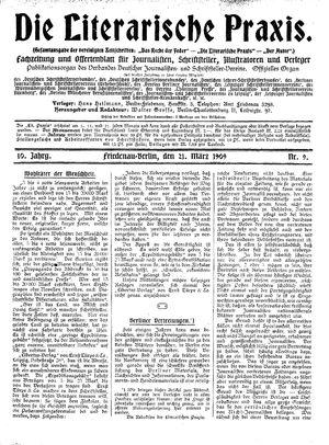 ˜Dieœ literarische Praxis vom 21.03.1909