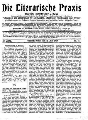 ˜Dieœ literarische Praxis vom 11.06.1909