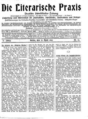 ˜Dieœ literarische Praxis vom 21.04.1910