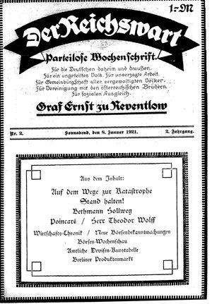 Reichswart vom 08.01.1921