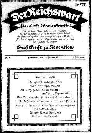 Reichswart vom 22.01.1921