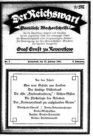 Reichswart vom 12.02.1921