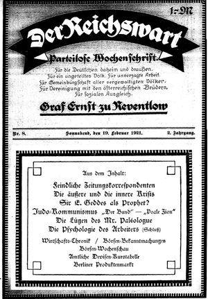Reichswart vom 19.02.1921