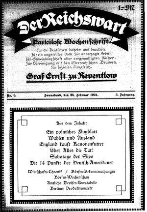 Reichswart vom 26.02.1921