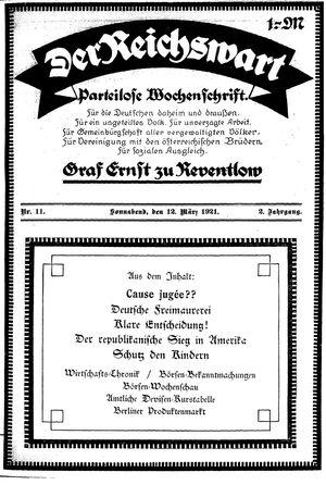 Reichswart vom 12.03.1921