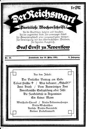 Reichswart vom 19.03.1921