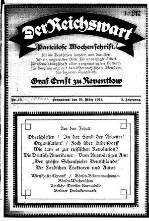 Reichswart vom 26.03.1921