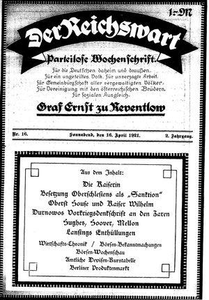 Reichswart vom 16.04.1921