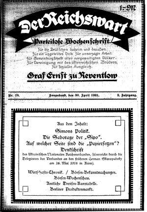 Reichswart vom 30.04.1921