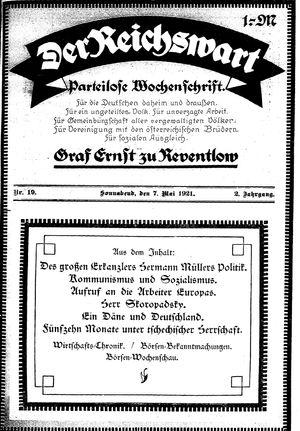 Reichswart vom 07.05.1921