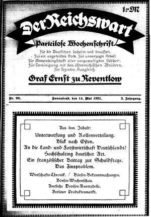 Reichswart on May 14, 1921