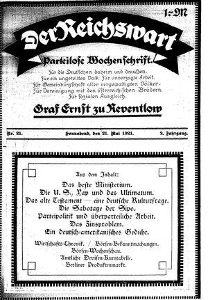 Reichswart vom 21.05.1921