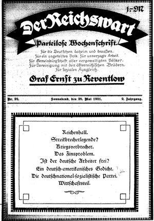 Reichswart vom 28.05.1921