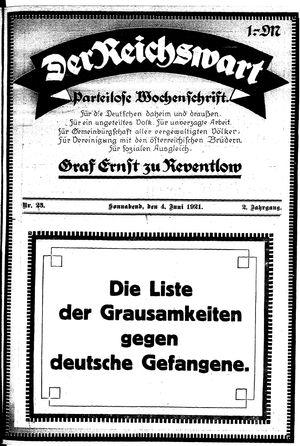 Reichswart vom 04.06.1921