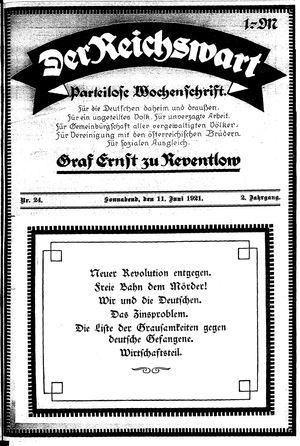 Reichswart vom 11.06.1921
