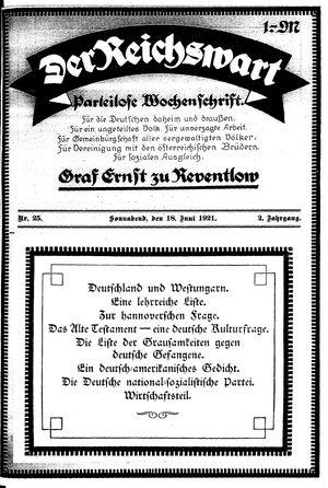 Reichswart vom 18.06.1921