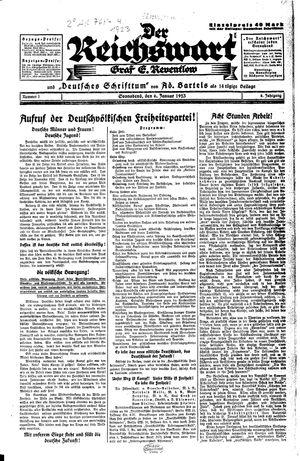 Reichswart vom 06.01.1923