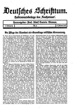 Reichswart vom 15.01.1923