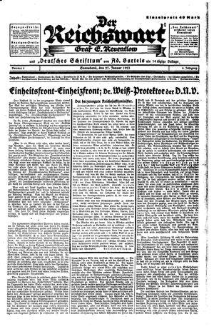 Reichswart vom 27.01.1923