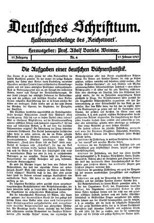 Reichswart vom 15.02.1923