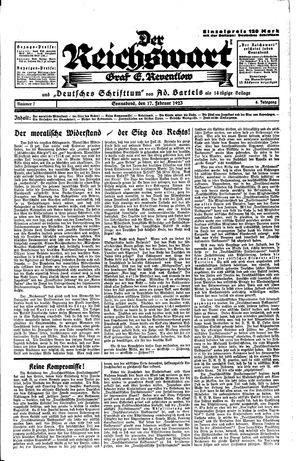 Reichswart vom 17.02.1923