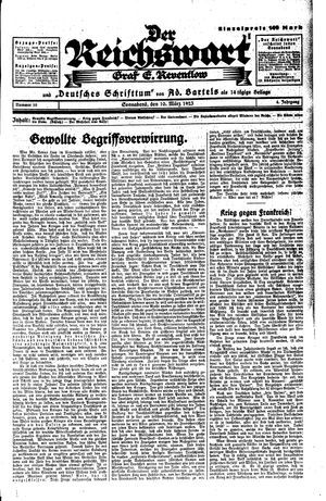 Reichswart vom 10.03.1923