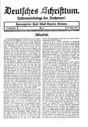 Reichswart vom 15.03.1923