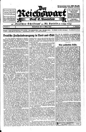Reichswart vom 17.03.1923