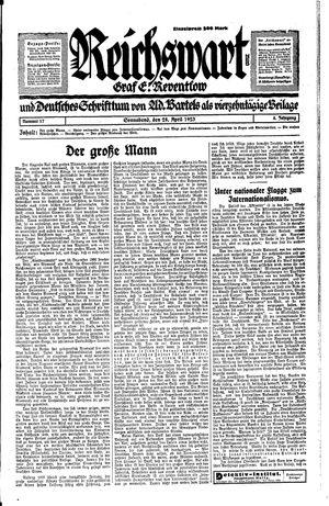 Reichswart vom 28.04.1923