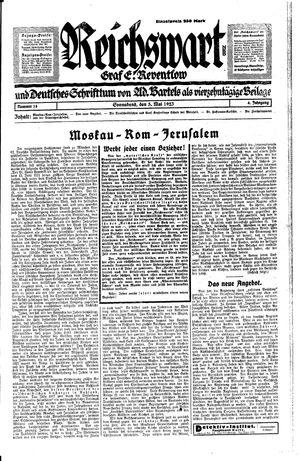 Reichswart vom 05.05.1923