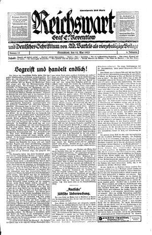 Reichswart on May 12, 1923
