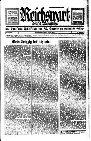 Reichswart vom 02.06.1923