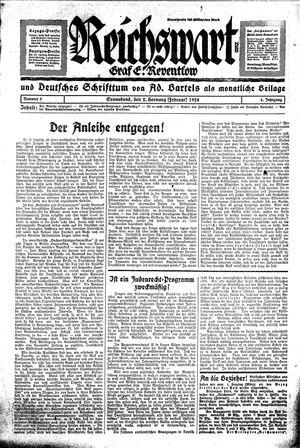 Reichswart vom 02.02.1924