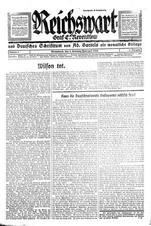 Reichswart vom 09.02.1924
