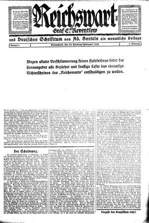Reichswart vom 23.02.1924