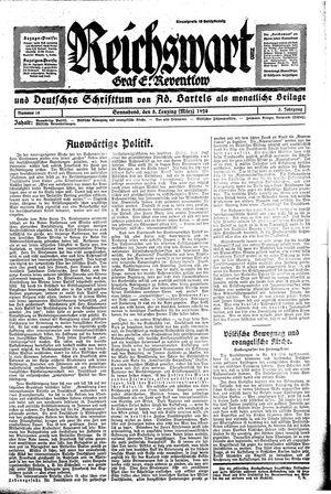 Reichswart vom 08.03.1924