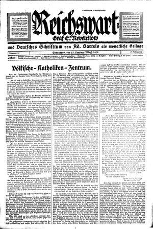 Reichswart vom 15.03.1924