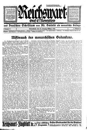 Reichswart vom 29.03.1924
