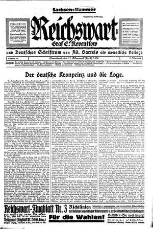 Reichswart vom 12.04.1924