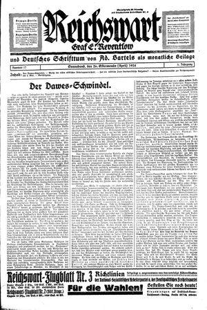 Reichswart vom 26.04.1924