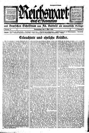 Reichswart vom 01.05.1924