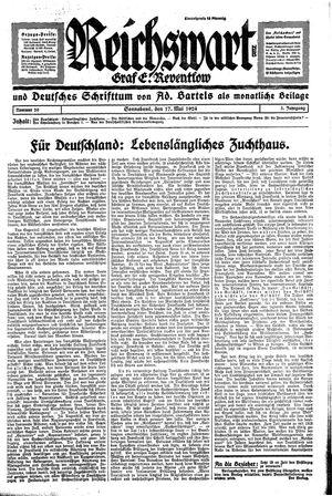 Reichswart vom 17.05.1924