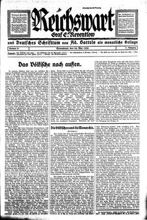Reichswart vom 24.05.1924