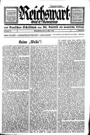 Reichswart vom 31.05.1924