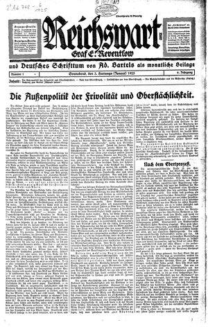 Reichswart vom 03.01.1925